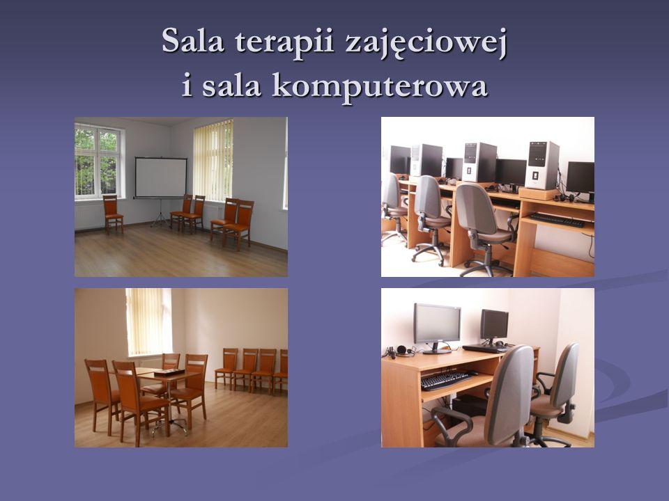 Sala terapii zajęciowej i sala komputerowa