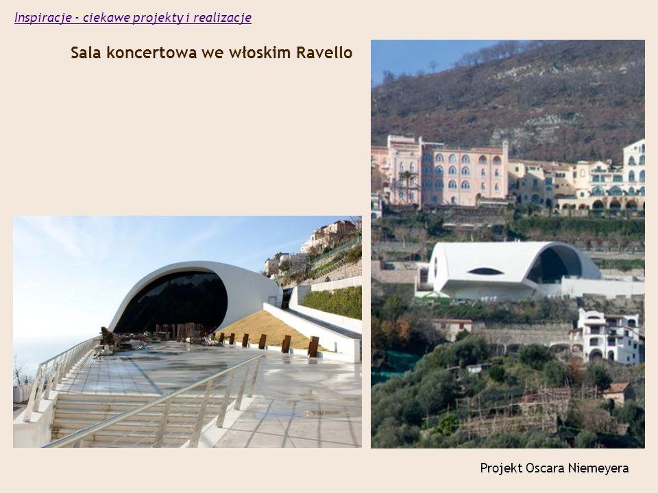 Sala koncertowa we włoskim Ravello Projekt Oscara Niemeyera Inspiracje - ciekawe projekty i realizacje