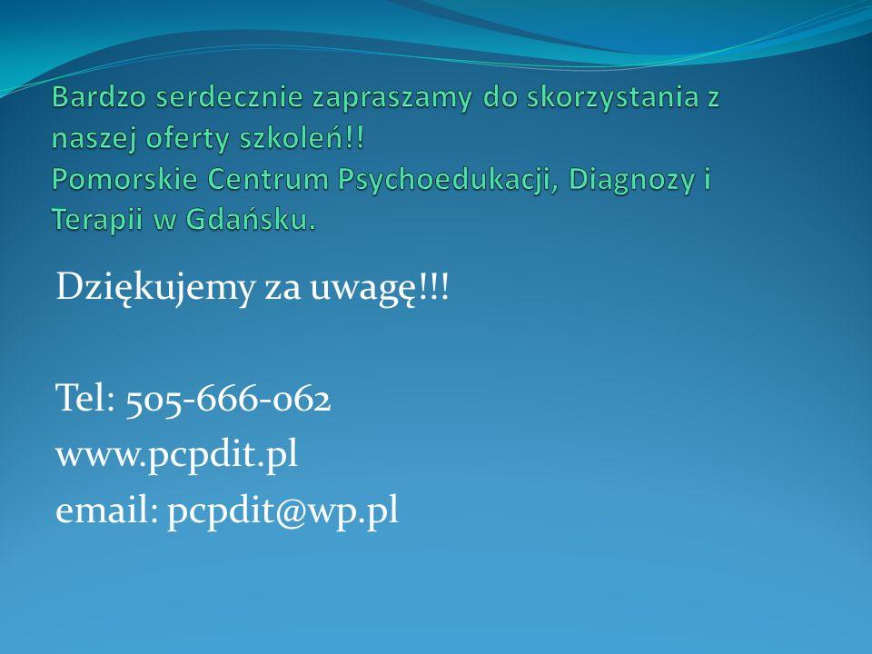 Dziękujemy za uwagę!!! Tel: 505-666-062 www.pcpdit.pl email: pcpdit@wp.pl