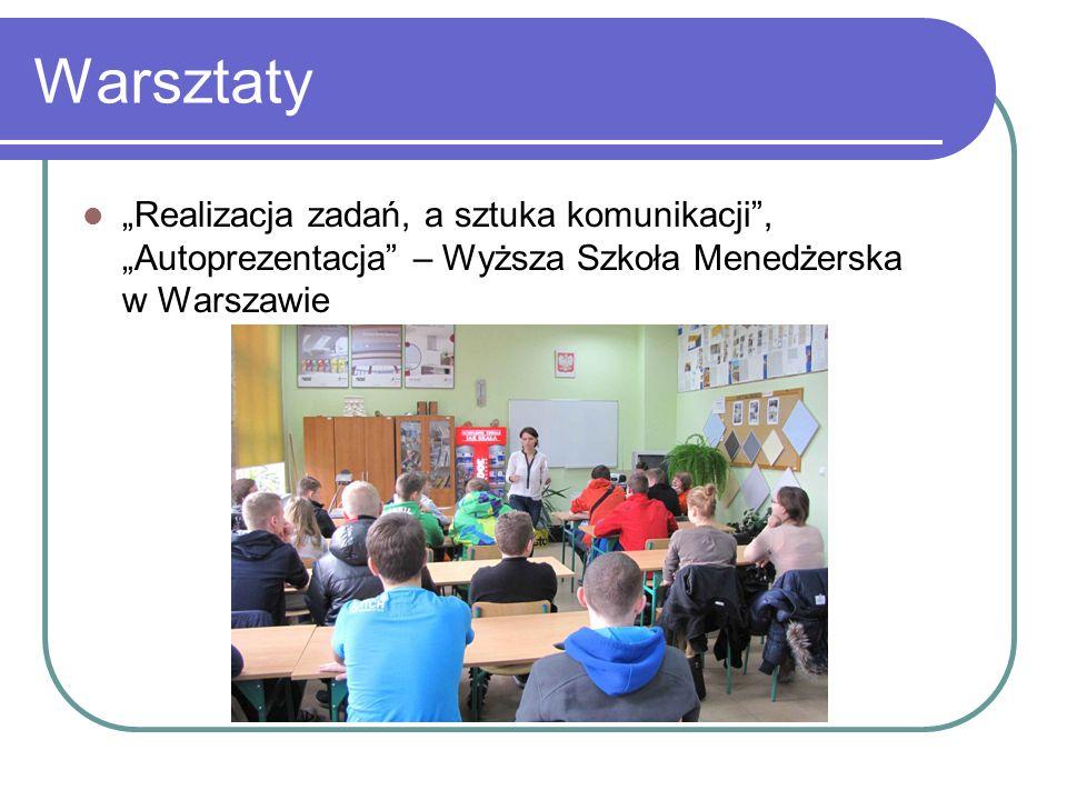 Warsztaty Realizacja zadań, a sztuka komunikacji, Autoprezentacja – Wyższa Szkoła Menedżerska w Warszawie