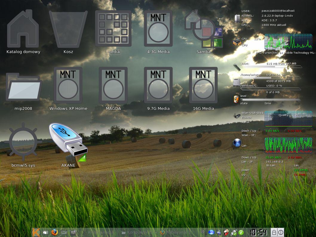Sterowniki Wprowadzono obsługę kart ATI z rodziny HD Karty z serii Radeon X1xxx – 8.40.4 Karty z serii Radeon HD (HD2400, HD2600, HD2900) - 8.41.7 AVIVO już nie jest domyślnym sterownikiem używanym do kart ATI z serii X1xxx.