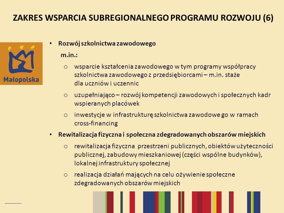 Rozwój szkolnictwa zawodowego m.in.: o wsparcie kształcenia zawodowego w tym programy współpracy szkolnictwa zawodowego z przedsiębiorcami – m.in.