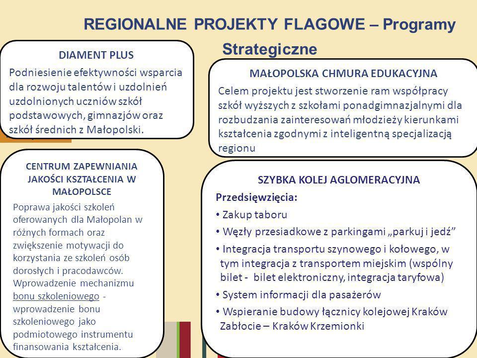 33/12 REGIONALNE PROJEKTY FLAGOWE – Programy Strategiczne DIAMENT PLUS Podniesienie efektywności wsparcia dla rozwoju talentów i uzdolnień uzdolnionyc