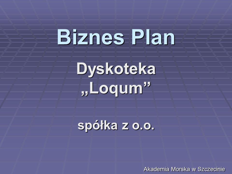 Streszczenie Projektu Przedsięwzięcia Cel sporządzenia planu Celem sporządzenia planu jest chęć stworzenia nowej dyskoteki w Szczecinie o najlepszym w mieście sprzęcie muzycznym jak i oświetleniowym oraz powiększenie majątku spółki.