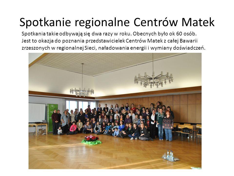 Spotkanie regionalne Centrów Matek Spotkania takie odbywają się dwa razy w roku. Obecnych było ok 60 osób. Jest to okazja do poznania przedstawicielek