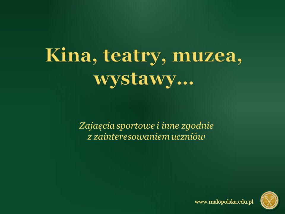 Zajaęcia sportowe i inne zgodnie z zainteresowaniem uczniów www.malopolska.edu.pl
