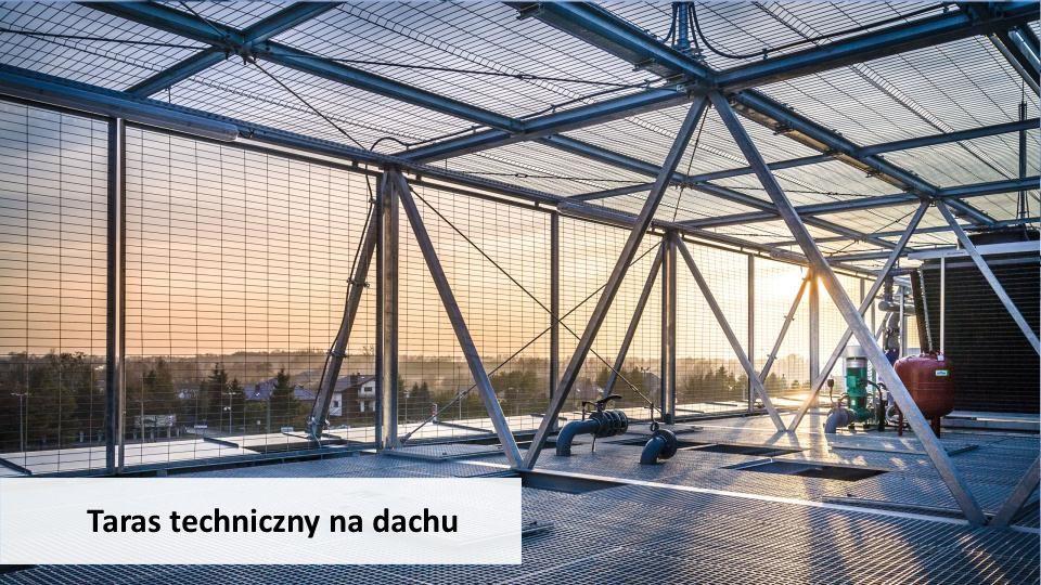 Taras techniczny na dachu