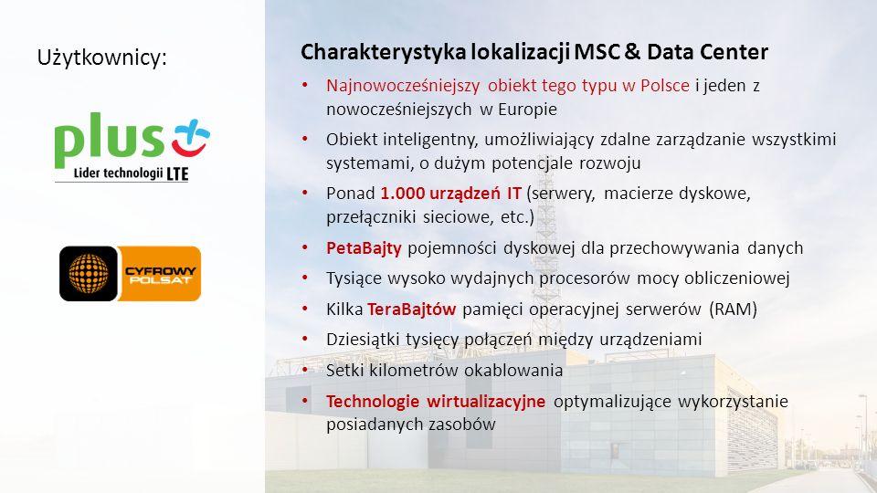Charakterystyka lokalizacji MSC & Data Center Najnowocześniejszy obiekt tego typu w Polsce i jeden z nowocześniejszych w Europie Obiekt inteligentny,