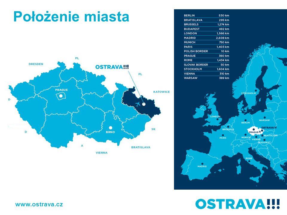 www.ostrava.cz W promieniu 100 km od Ostrawy mieszka 5 mln osób.