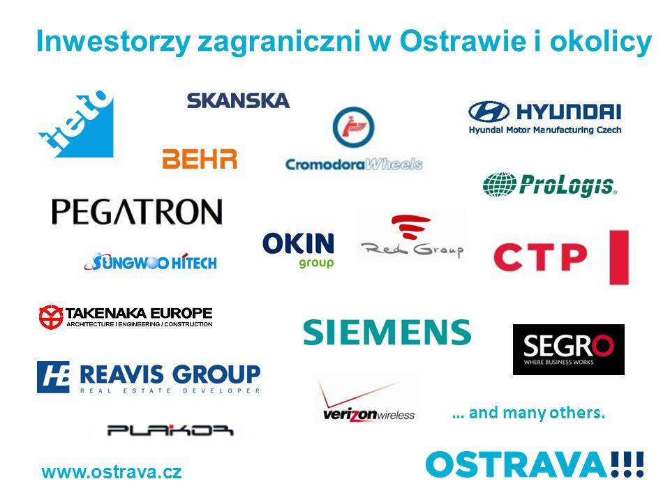 … and many others. Inwestorzy zagraniczni w Ostrawie i okolicy www.ostrava.cz