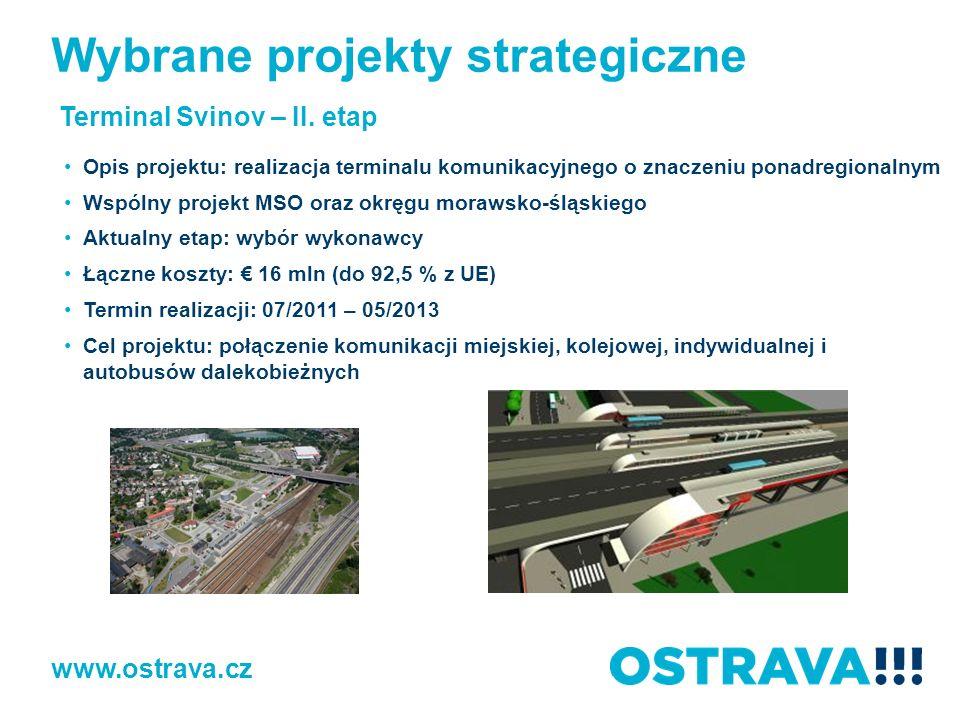 www.ostrava.cz Terminal Svinov – II. etap Opis projektu: realizacja terminalu komunikacyjnego o znaczeniu ponadregionalnym Wspólny projekt MSO oraz ok