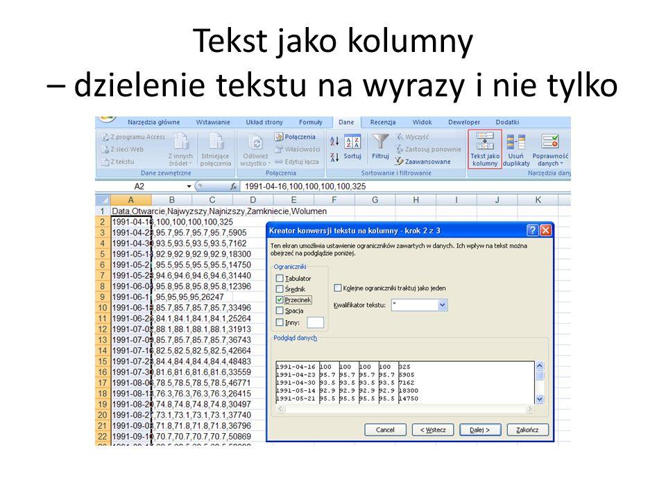 Symulacje z użyciem tabeli danych Za pomocą tabeli danych można szybko w Excelu przeprowadzić symulacje losowe (stochastyczne).