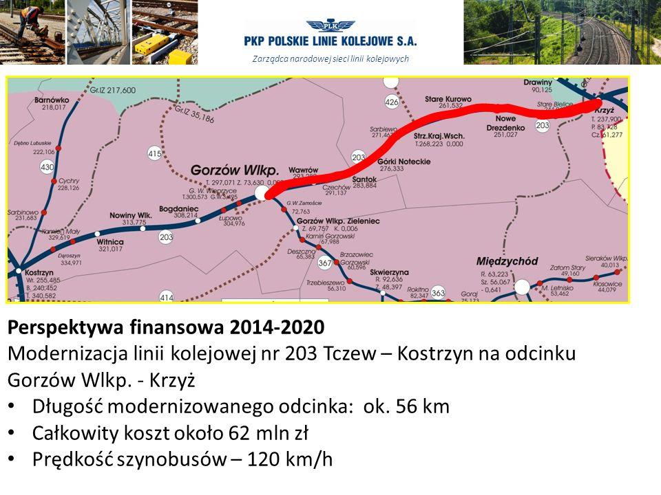 Zarządca narodowej sieci linii kolejowych Perspektywa finansowa 2014-2020 Modernizacja linii kolejowej nr 203 Tczew – Kostrzyn na odcinku Gorzów Wlkp.