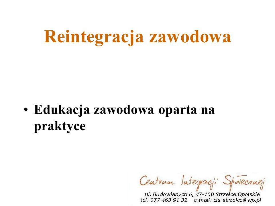 Reintegracja zawodowa Edukacja zawodowa oparta na praktyce