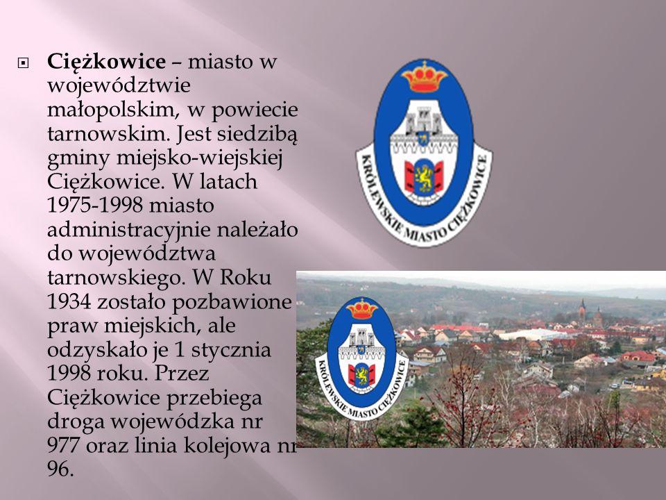 Ciężkowice – miasto w województwie małopolskim, w powiecie tarnowskim. Jest siedzibą gminy miejsko-wiejskiej Ciężkowice. W latach 1975-1998 miasto adm