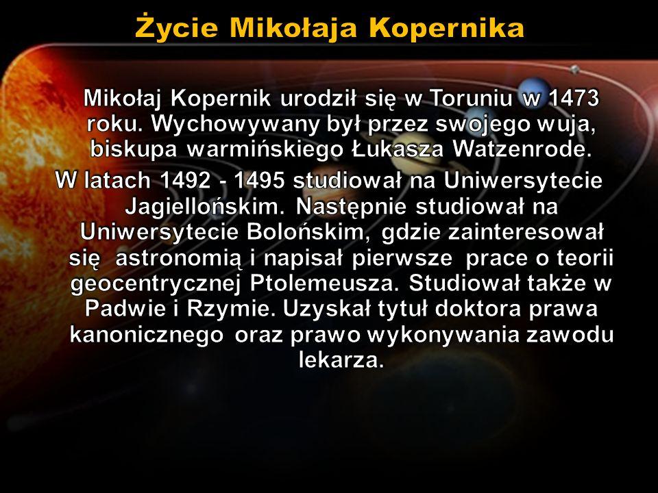 Mikołaj Kopernik przebywał na Warmii i został kanonikiem warmińskim.