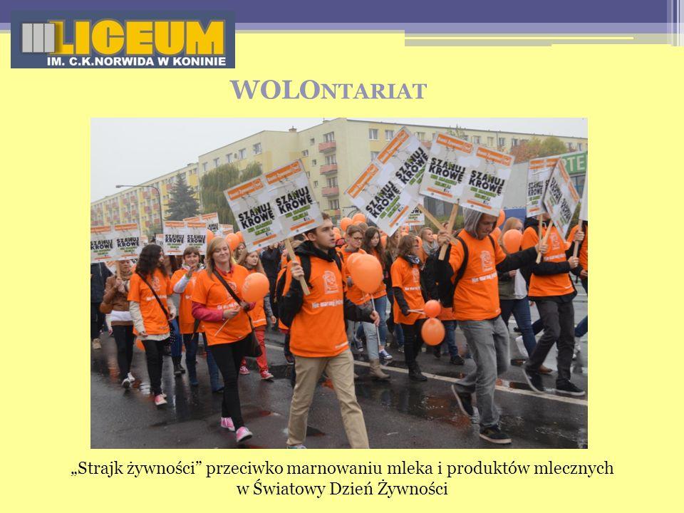 WOLO NTARIAT Strajk żywności przeciwko marnowaniu mleka i produktów mlecznych w Światowy Dzień Żywności