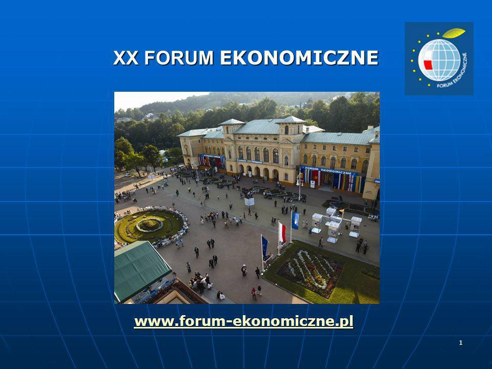 1 XX FORUM EKONOMICZNE www.forum-ekonomiczne.pl