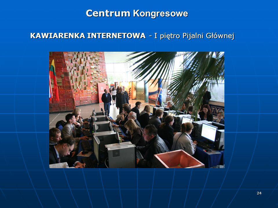 24 KAWIARENKA INTERNETOWA - I piętro Pijalni Głównej Centrum Kongresowe Centrum Kongresowe