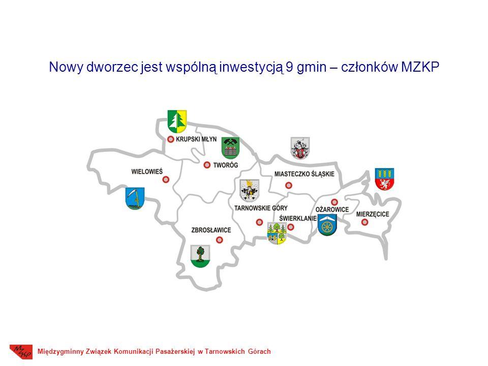 Międzygminny Związek Komunikacji Pasażerskiej w Tarnowskich Górach Nowy dworzec jest wspólną inwestycją 9 gmin – członków MZKP