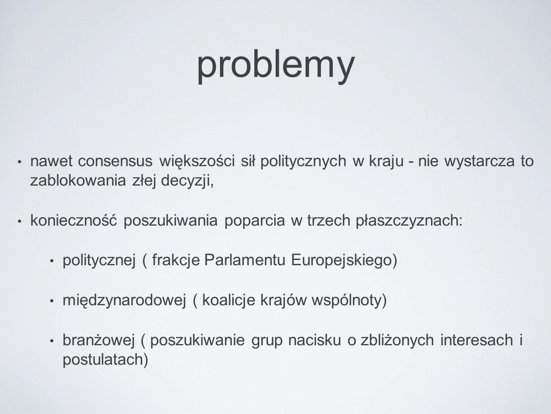 Wyzwania międzynarodowe konieczność internacjonalizacji działań lobbyingowych organizacji pracodawców ( łączenie w swoiste międzynarodówki) i organizacji branżowych zdolność do identyfikacji grup interesu o podobnych poglądach europejska triada lobbyingu ( państwo - frakcja - organizacja )