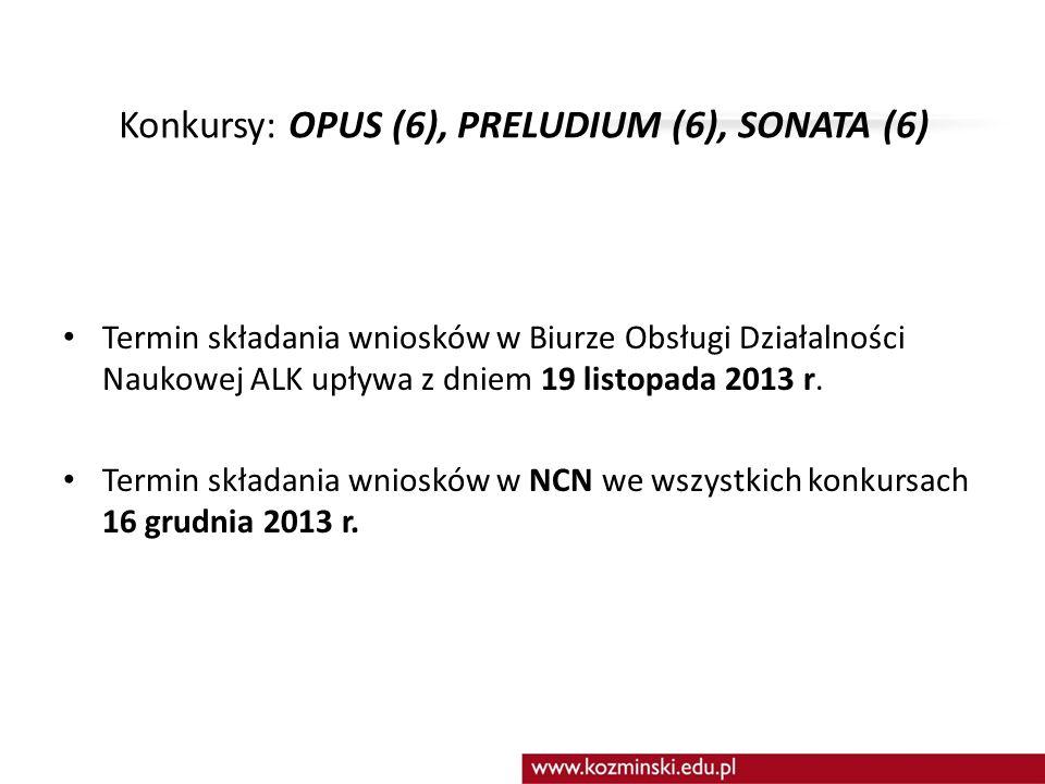SPRAWY DOTYCZĄCE WSZYSTKICH KONKURSÓW ogłoszonych w dniu 15 września 2013 r.