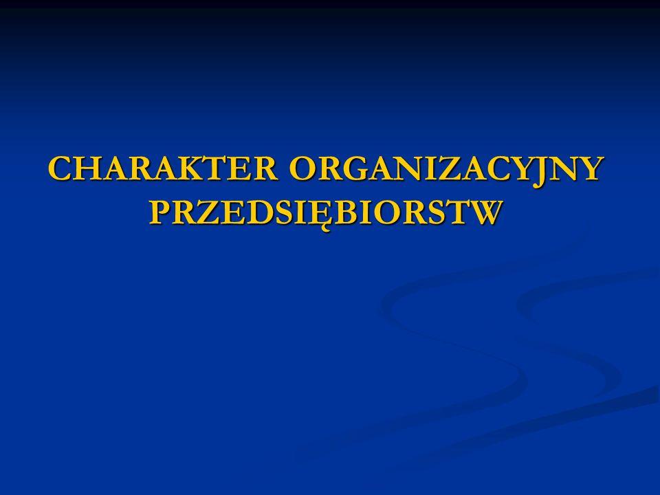 CHARAKTER ORGANIZACYJNY PRZEDSIĘBIORSTW