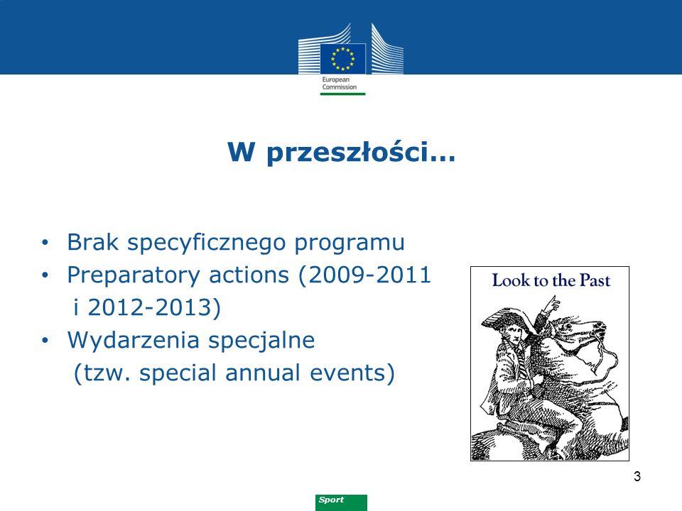 Sport Preparatory actions 2009 4 1.Promowanie aktywności fizycznej pozytywnie wpływającej na zdrowie 2.Promowanie kształcenia i szkolenia w sporcie 3.Promowanie podstawowych wartości europejskich poprzez zachęcanie osób niepełnosprawnych do uprawiania sportu 4.Promowanie równości płci w sporcie