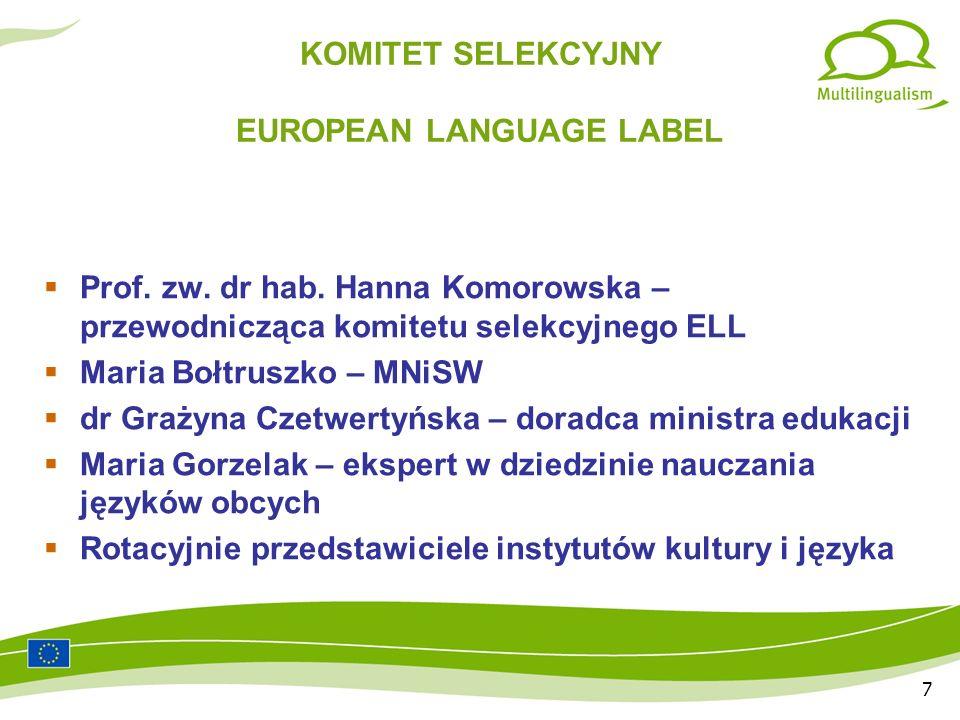 18 Dzięki współpracy z ORE (Ośrodek Rozwoju Edukacji) w Warszawie opisy nagrodzonych projektów ELL umieszczane są w czasopiśmie dla nauczycieli języków obcych: JĘZYKI OBCE W SZKOLE Artykuł o laureatach IX edycji ukaże się wkrótce.