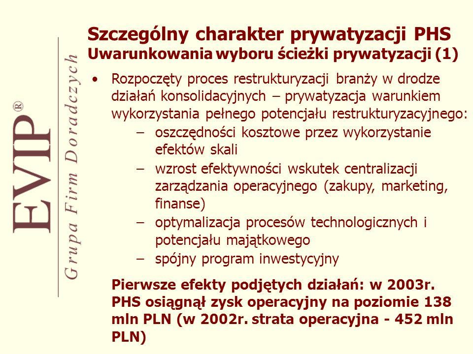 Rozpoczęty proces restrukturyzacji branży w drodze działań konsolidacyjnych – prywatyzacja warunkiem wykorzystania pełnego potencjału restrukturyzacyj