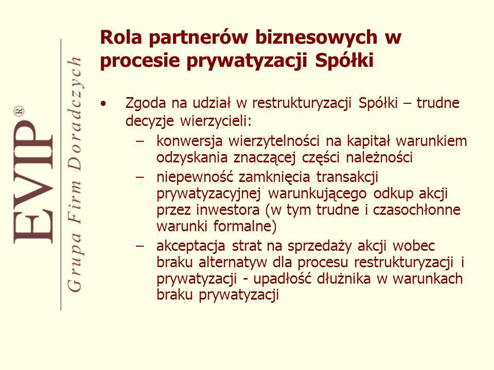 Oczekiwania załogi a postawa inwestora, czyli szczególna rola pakietu socjalnego w procesie prywatyzacji –redukcja zatrudnienia określona biznes planem – istotny czynnik osiągnięcia wskaźników efektywnościowych –zobowiązania wynikające z traktatu akcesyjnego –żądania socjalne załogi wyznaczone szeregiem procesów prywatyzacyjnych na rynku polskim Wpływ partnerów społecznych na powodzenie procesu