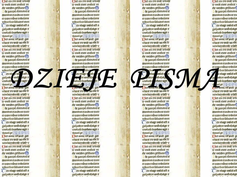 Pismo jest system znaków, który pozwala na widzialne,trwałe i precyzyjne przedstawienie myśli ludzkiej Przed powstaniem pisma właściwego jego funkcje częściowo spełniały: Znaki własności Kipu – zespoły sznurów z węzłami służące do utrwalania wiadomości (pismo Indian) Aroko – nanizane na sznur muszle (pismo plemion murzyńskich) Pismo właściwe rozwinęło się z piktografii – języka rysunków, który przekazuje mowę, a znaki piktograficzne można czytać, a raczej interpretować w dowolnym języku.