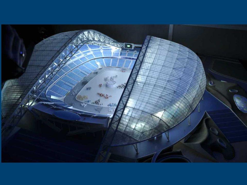 Stadion Olimpijski - Fiszt, Soczi 2014 Nazwa stadionu pochodzi od jednej z najsławniejszych w Rosji kaukaskiej Góry Fiszt. Tutaj odbędą się ceremonie