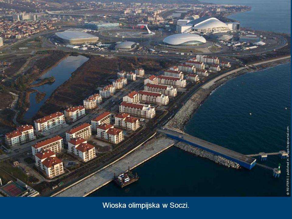 Centrum Curlingu - Kostka Lodu, Soczi 2014 Jest to najmniejszy z budowanych w Soczi obiektów sportowych. Po zimowych zawodach zostanie rozmontowany i