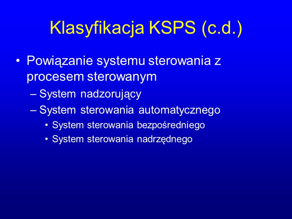 Rozproszona natura KSPS nadzorca użytkownik Element pomiarowo- wykonawczy medium transmisyjne monitorowany obiekt