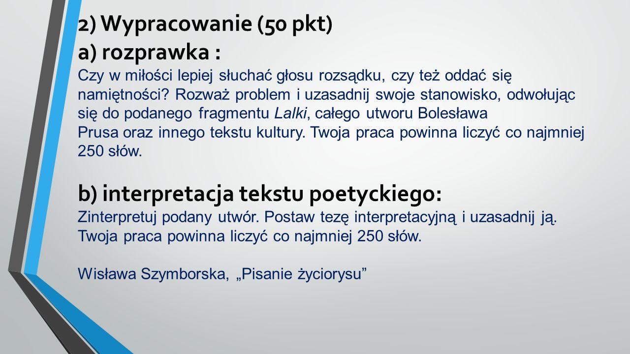 Matura pisemna – język białoruski 1) Test – 13 pkt 2) Wypracowanie (min. 250 słów) – 37 pkt