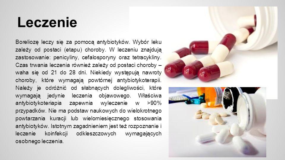 Leczenie Boreliozę leczy się za pomocą antybiotyków.