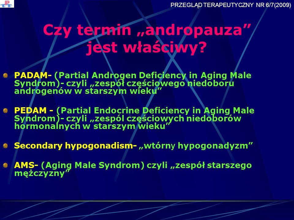 Czy termin andropauza jest właściwy.