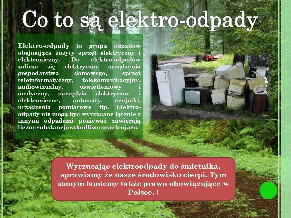 Elektro-odpady to grupa odpadów obejmująca zużyty sprzęt elektryczny i elektroniczny.