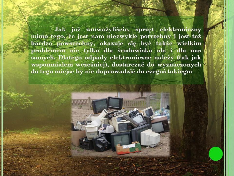 http://www.recykling.pl/recykling/index/r/odpady/266/o/19 http://www.elektroodpadyprostezasady.pl/materialy/26.pdf http://www.elektroodpadyprostezasady.pl/materialy/6.pdf http://www.elektroodpady.edu.pl/elektroodpady/ http://wyborcza.biz/biznes/1,101562,14456112,Swietlowki___oszczedzaja_prad__ale_moga_odebrac _zdrowie.html http://www.recykling.pl/recykling/index.php/news/2669 http://pl.wikipedia.org/wiki/O%C5%82%C3%B3w http://pl.wikipedia.org/wiki/Arsen http://pl.wikipedia.org/wiki/Bateria http://pl.wikipedia.org/wiki/Elektroodpady https://www.premier.gov.pl/files/styles/width798/public/images/wydarzenia/elektroodpady.jpg http://www.podlasie24.pl/upl/articles/c206e8c4596de95b1341f9e9ab14fb33.JPG http://bi.gazeta.pl/im/db/64/be/z12477659AA,Elektroodpady.jpg http://upload.wikimedia.org/wikipedia/commons/c/c0/Znak_przekre%C5%9Blonego_kosza.jpg http://i.wp.pl/a/f/jpeg/30733/gdzie-oddawac-agd-pralka-640.jpeg