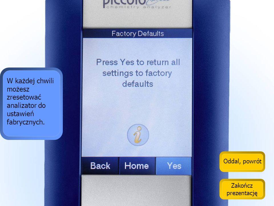 Oddal, powrót Zakończ prezentację To jest funkcja, pozwalająca wykonać aktualizację urządzenia.