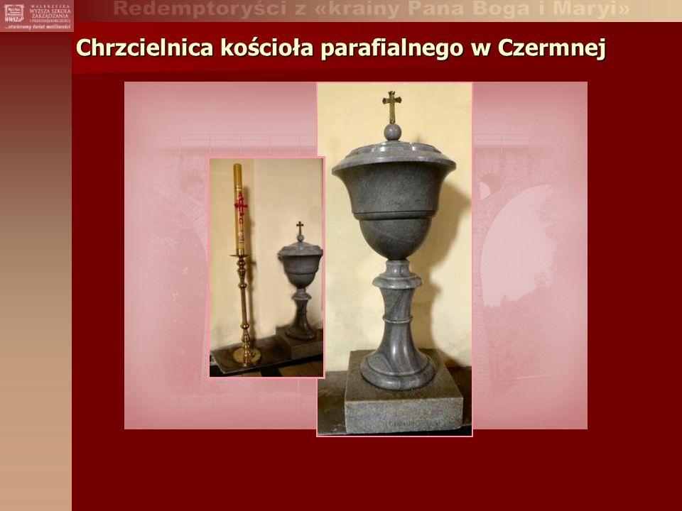 Chrzcielnica kościoła parafialnego w Czermnej