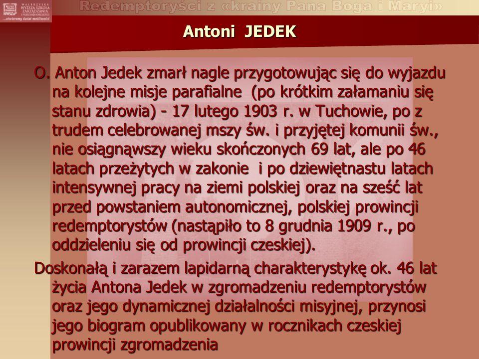 Antoni JEDEK O.