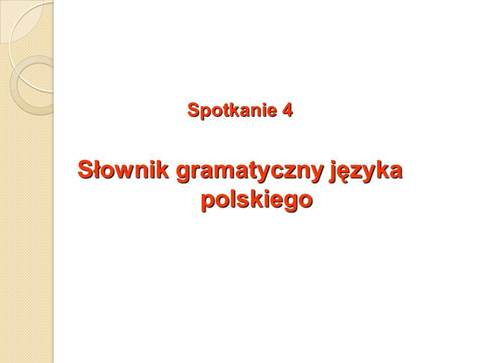 Spotkanie 4 Słownik gramatyczny języka polskiego