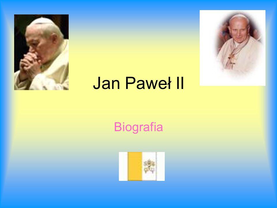 Dzieciństwo i młodość Rodzinny dom papieża Jana Pawła II Karol Wojtyła urodził się w Wadowicach jako drugi syn Karol Wojtyła seniora Emilia z Kaczorowskich.