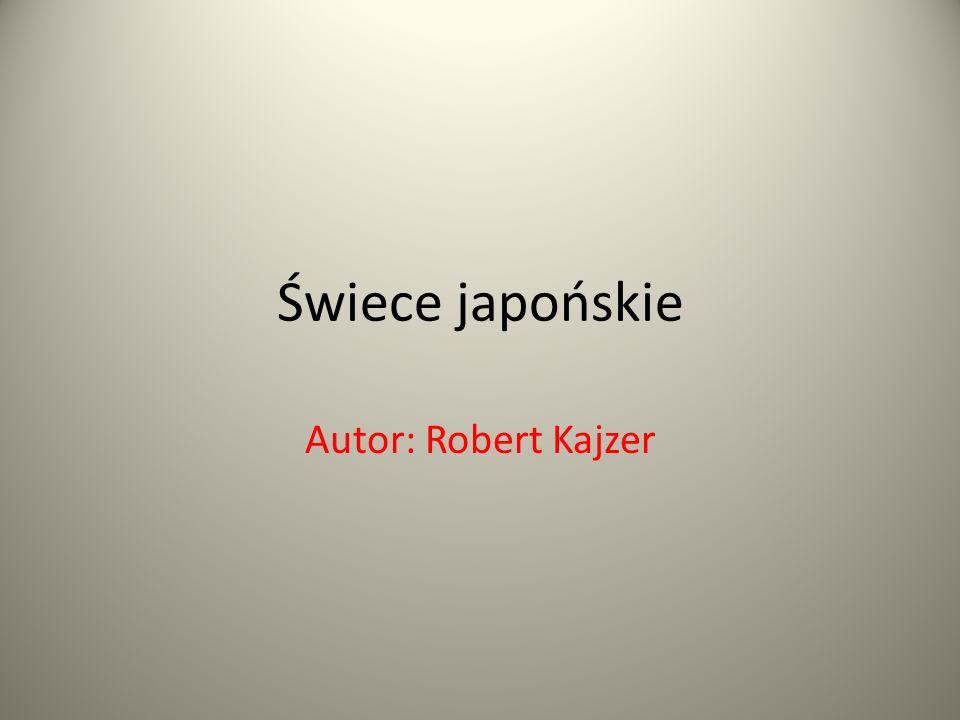 Świece japońskie Autor: Robert Kajzer