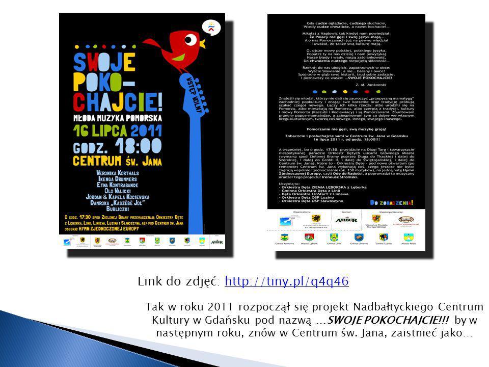Link do zdjęć: http://tiny.pl/q4q46http://tiny.pl/q4q46 Tak w roku 2011 rozpoczął się projekt Nadbałtyckiego Centrum Kultury w Gdańsku pod nazwą …SWOJ