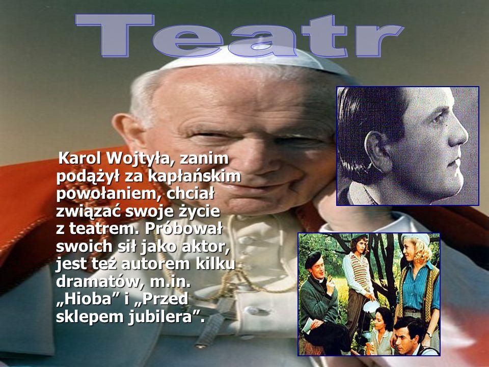 Karol Wojtyła, będąc studentem na UJ, został kibicem Cracovii.