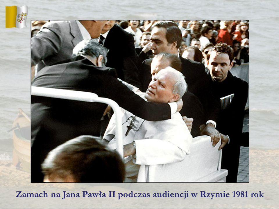 Zamach na Jana Pawła II podczas audiencji w Rzymie 1981 rok