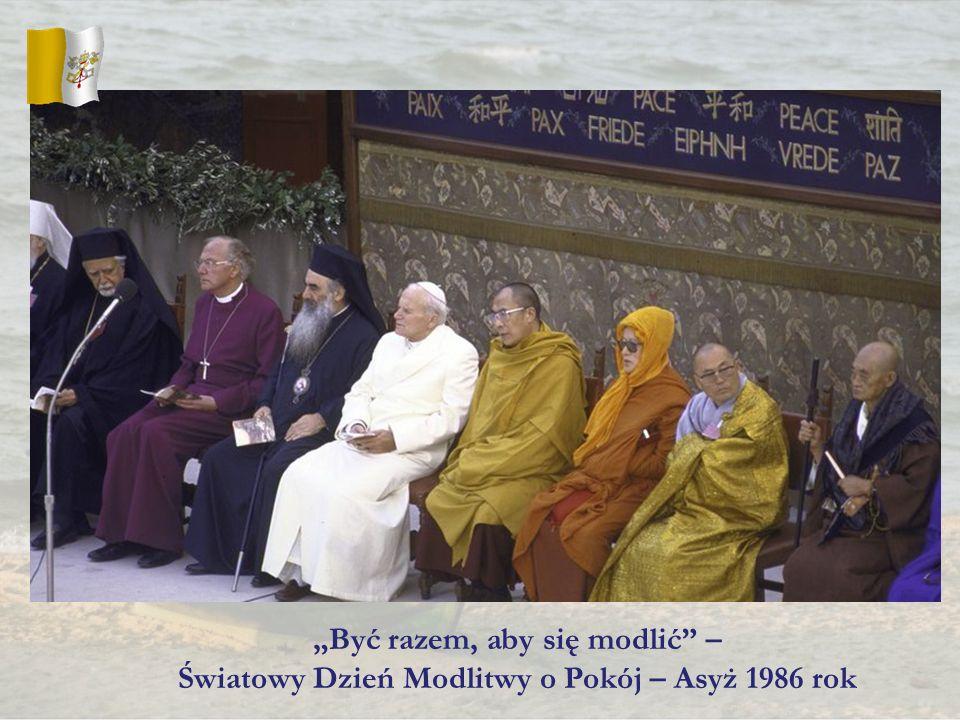 Być razem, aby się modlić – Światowy Dzień Modlitwy o Pokój – Asyż 1986 rok